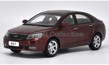 * Red 1:18 Geely EMGRAND EC7 SUV Diecast Model Car Metal Sedan Modell Autos Festival Gifts Mini Vehicle