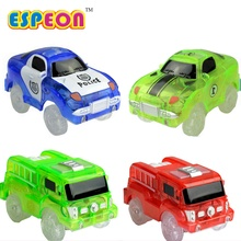 Espeon Electronics Car Flashing Lights Amazing Tracks Car LED Lights Glowing in the Dark Track Models Toys For Children Car Toy