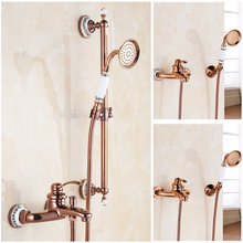 Factory Promotion Luxury Rose gold Shower Set Faucet with Single Lever Wall Mounted
