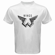 New 2017 Men'S Cute New Paul Mccartney Wings Logo Music Legend T Shirt Hot Sale Tee Shirts Hipster Cool Tops High Quality
