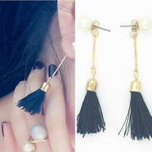 Ahmed Jewelry trend Brand Korea Pop Alloy Pearl Tassel Beautiful Stud Earring Gift Cute Earrings Female Accessories(China)