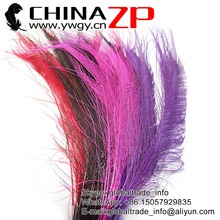 CHINAZP Factory Size 30~40cm(12~16inch) Wholesale 100pcs/lot Selected Prime Quality Mix Colors Dyed Peacock Swords Cut Feathers(China)