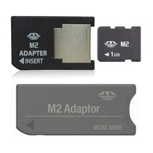 1GB Memory Stick Micro with 2 M2 adaptor Memory card M2 card