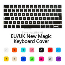 Keyboard Cover Case Silicone Colorful For New Magic Keyboard 2 iMac Apple Eu Uk(China)