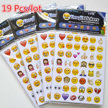 Original 19Pcs Emoji Stickers Pack 912 Creative Die Cut Sticker for Diary Phone Instagram Twitter Vinyl Smile Icon Image Emotion(China)