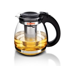 Promotion! 1500ml Glass Teapot Home & Office Tea Pot Kettle Drinkware Heat-resistan Stainless Steel Strainer