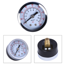 "1/8"" Mini Pressure Gauge Air Vacuum Dry Pressure Utility Gauge Tester 0-160 PSI Side Back Mount 1.5"" Dial Plate(China)"