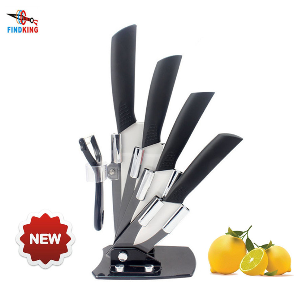 knives block set promotion shop for promotional knives block set findking brand high quality kitchen knives 3 inch 4 inch 5 inch 6 inch peeler acrylic knife block holder 6 pcs ceramic knife set