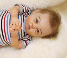 "22"" handmade silicone reborn dolls real newborn baby looking soft touch high end brand dolls for children bonecas reborn(China)"