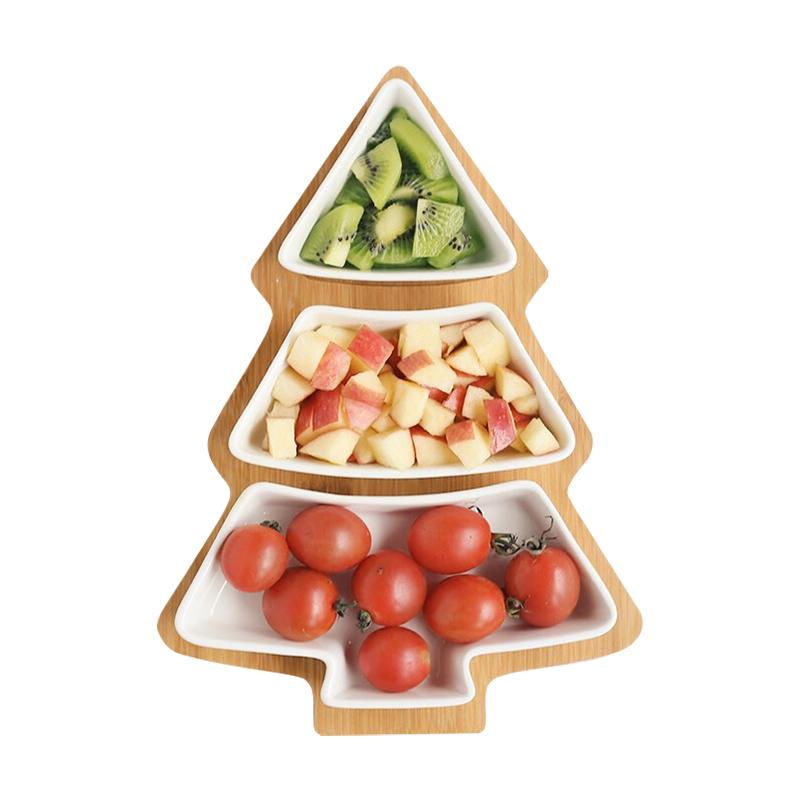 Creative Ceramics Christmas Tree Wood Tray  (10)