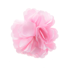 Best Sale Silk Flower Hair Clip Wedding Corsage Flower Clip 8cm - Pink(China)