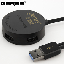 GARAS USB HUB Cable 4 Port Micro USB Splitter Mini Hub Power Adapter Charging Interface With Separete Switch Computer Cable(China)