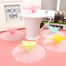 Cute Butterfly Silicone Airtight Sealed Cup Cover Lid Cap Coffee Leakproof