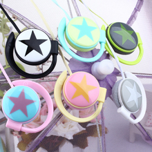 Fashion star design Ear-Hook earphone mini headset headphone for iphone Samsung mobile phone mp3 player