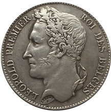 1833 Belgium 5 Francs Silver Coins Copy FREE SHIPPING(China)