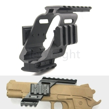 Plastic Pistol Scope mounts Sight Laser Light Mount Picatinny Rail Glock red dot sight lighting airsoft hunting(China)