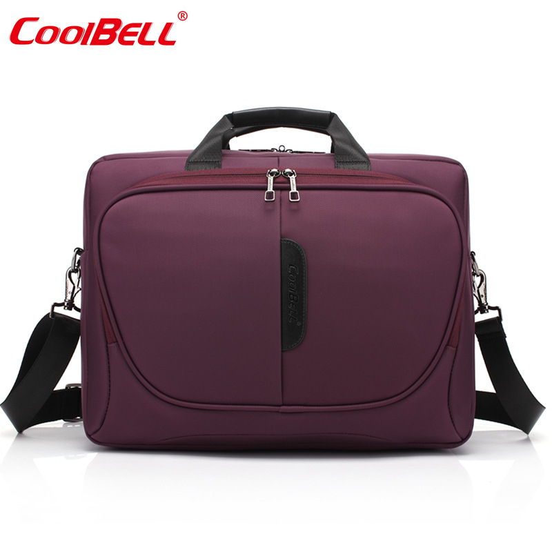 COOLBELL 2017 Men Casual Briefcase Business Shoulder Bag Nylon Messenger Bags Computer Laptop Purple/Black/Gray Handbag Bag-FF<br>