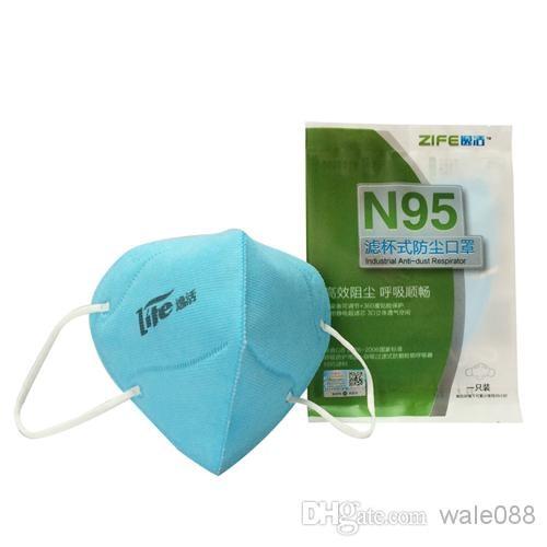 Zero zone N95 mask activated carbon mouth mask fashion adult anti dust mask anti haze pm2.5 bowl-shape mask Blue 3 pcs<br><br>Aliexpress