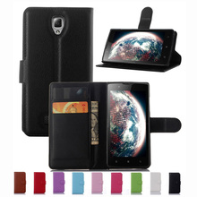 Wallet Case For Lenovo A 2010 A2010 PU Leather Kickstand TUP Back Shell Pink Rose Green Purple Blue Black White Brown