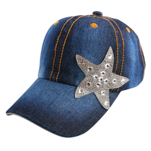 children cheap promotion star baseball cap mixed rhinestone luxury boy girl snapback hip hop strapback hats baby cute casquette