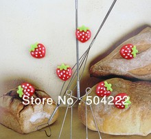 200pcs lovely red strawberry resin Cabochons (17mm) Cell phone decor, hair accessory supply, DIY polka dots kitsch