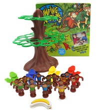 NEW SALE Jumping Monkeys Board Game Cat pult All Your Monkeys into The Tree First and Win Interactive Toys for Children Gifts(China)