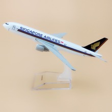 Alloy Metal Air Singapore Airlines B777 Airplane Model Singapore Boeing 777 Airways Plane Model Aircraft Kids Gifts 16cm(China)