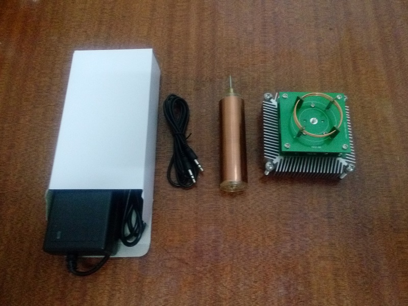 Small music, Tesla coils, plasma speakers, wireless lighting, ion windmills, electronic toys, gifts<br>