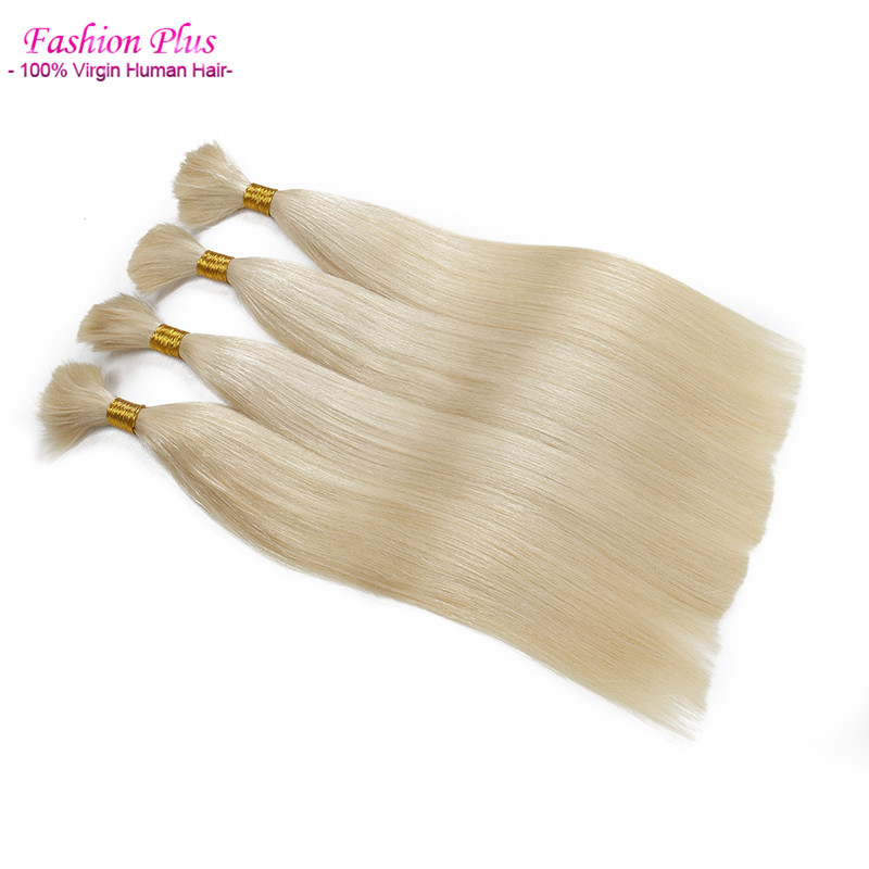 Human Braiding Hair Brazilian Virgin Hair Bulk no Weft 1# 2# 8# 613# Black Blonde Raw Hair Virgin Bulk Hair Extensions 3 Bundles<br><br>Aliexpress