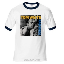 New Popular Tom Waits Rain Dog Music Legend Men's Black T-shirt Size S-2XL north carolina jersey