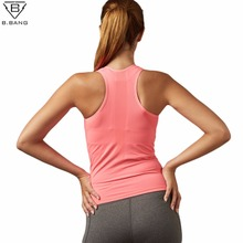 B.BANG Women Yoga Shirts Sleeveless Sport Running Vest  Dry Quick Tank Tops for Gym Fitness Shirt Elastic Breathable Top M/L
