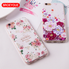Buy Soft TPU Case iPhone 7 6 6S Plus 5S SE Cover Silicone 3D Relief Flower Girl Female Mobile Phone Cases Cover Fundas Coque for $1.31 in AliExpress store