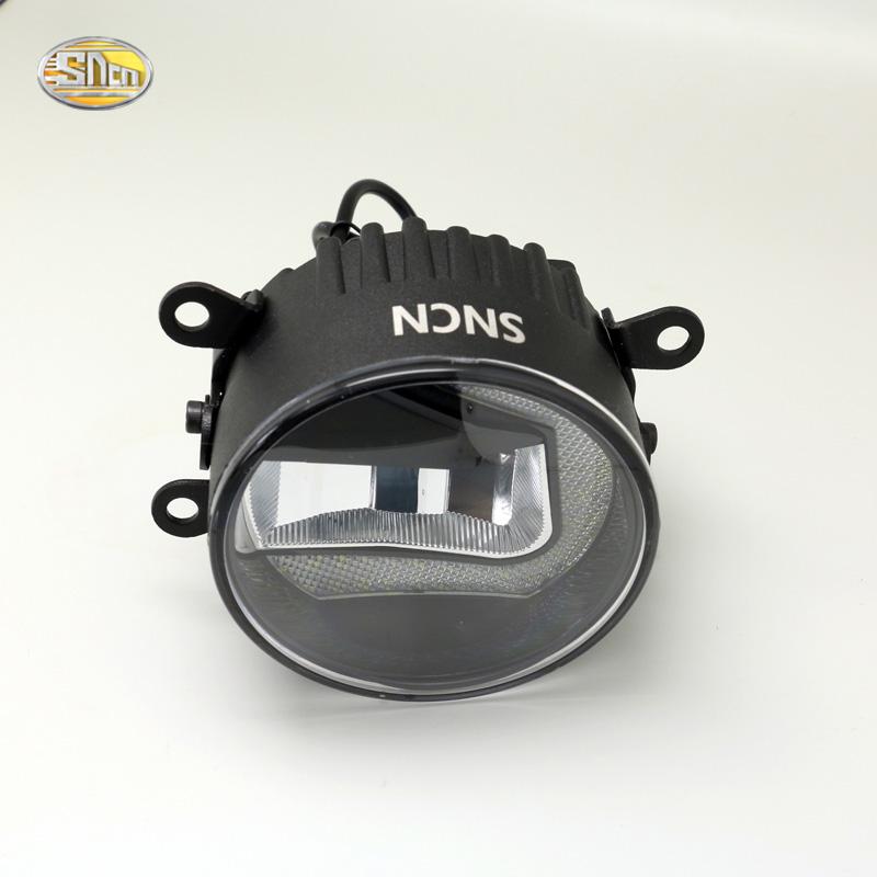 SNCN Led Fog lamp + Daytime Running Lights for Ford Focus 2005~2015 Fiesta 2009~2015 dual mode accessories<br>