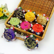Wholesale 6PCS Chinese HANDMADE CLASSIC Silk pin Cushion with 8 cute kids