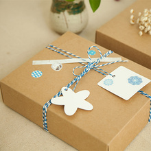 New 20*16*5cm 10pcs natural Kraft Disposable Paper Box Diy Birthday Holiday Party Gift Packaging Keep Treasure