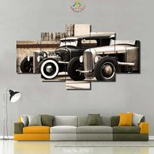 3-4-5 Pieces Modular Poster HD Printed Canvas Painting Frame For Living Room Wall Art Rod Vintage Car Pictures Home Decor(China)