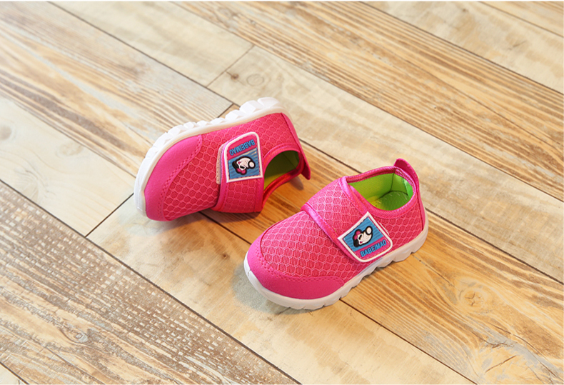 17 Autumn Kids Shoes Boys Girls Sports Shoes Breathable Mesh Children Casual Shoes Sneakers Soft Sole Toddler Baby Shoes 14