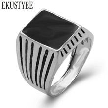 Forever The Black Friday To provide The Lowest Price Men Biker Silver Plated Jewelry Fashion Wedding Rings For Men Free Shipping(China)