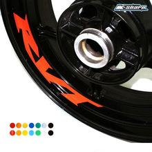 MTKRACING Free shipping 8 X CUSTOM INNER RIM DECALS WHEEL Reflective STICKERS STRIPES for HONDA RVT(China)