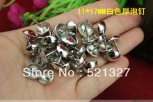 Diameter 11 * 17MM white foam sofa nail decoration nail doornail Nails  thick wooden decorative iron nails