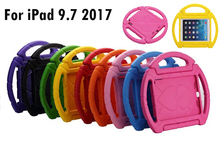 "Portable Kids steering wheel for iPad 9.7"" 2017 A1822 A1823 EVA drop resistance stand holder hand-held protective back case+Gift"