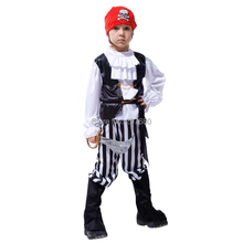 Childrens Pirate Fancy Dress Costume Buccaneer Halloween Outfit Boys