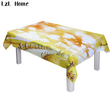 LzL Home hot ready made snowflake spring winter tree scenic tablecloths rectangular Christmas tablecloths waterproof table cover