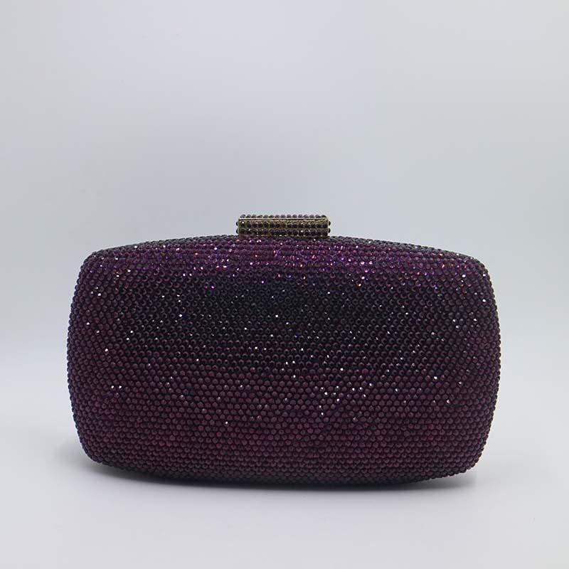 9yellowcrystaleveningbag-purpel bag