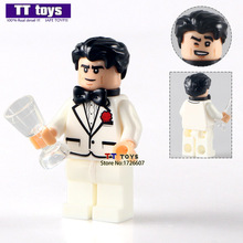 PG144 Bruce Wayne Single Sale SH308 White Tuxedo 2017 The Batman Movie 70909 Building Blocks Kids Gift Toys Hobbies PG8042