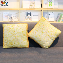 1pc Creative Plush Bread Toast Toy Pillow Cushion Mat Stuffed Toys Pillow Funny Birthday Gift Home Bakery Shop Decoration Triver