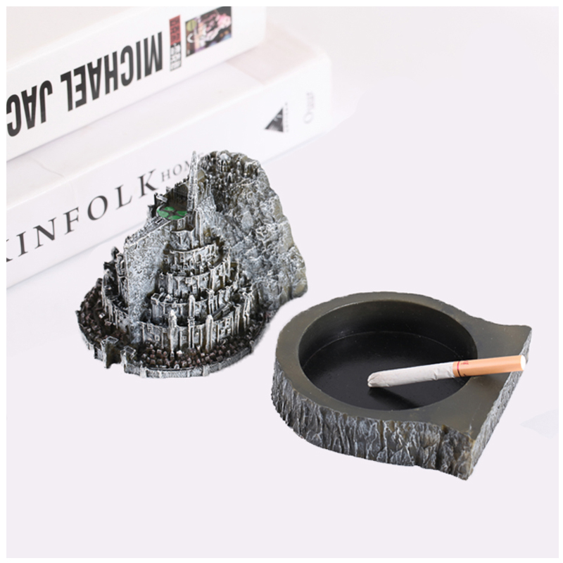 Nice The Hobbit Cosplay Minas Tirith City Mini Figure Cosplay Ashtray Girl Friend Gift Collection Gift Drop Ship Big Clearance Sale Novelty & Special Use