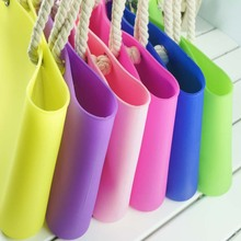 free shipping Silicone gel transparent color jelly candy color one shoulder big bag women's handbag beach casual handbag