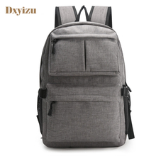 More Pockets Casual Men Backpack With USB Men Business Backpack With Side Net Bags Notebook Backpack Bags College Student Bag(China)