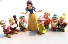 8pcs\set Snow White and the seven dwarfs 7 ornaments hand to do model doll gift toys for children PVC figure models